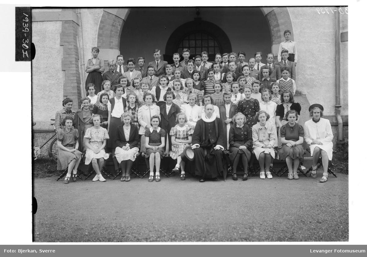 Konfirmanter fra Levanger og Frol i 1939