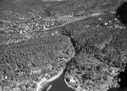 Ulike Widerø flyfoto fra Skien kommune, Skotfoss