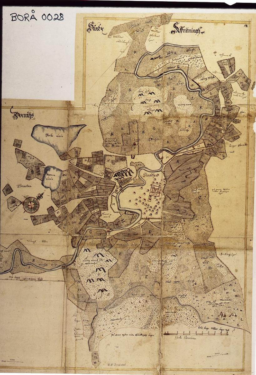Karta Vanersborg.Boras Stad Karta Vanersborgs Museum Digitaltmuseum