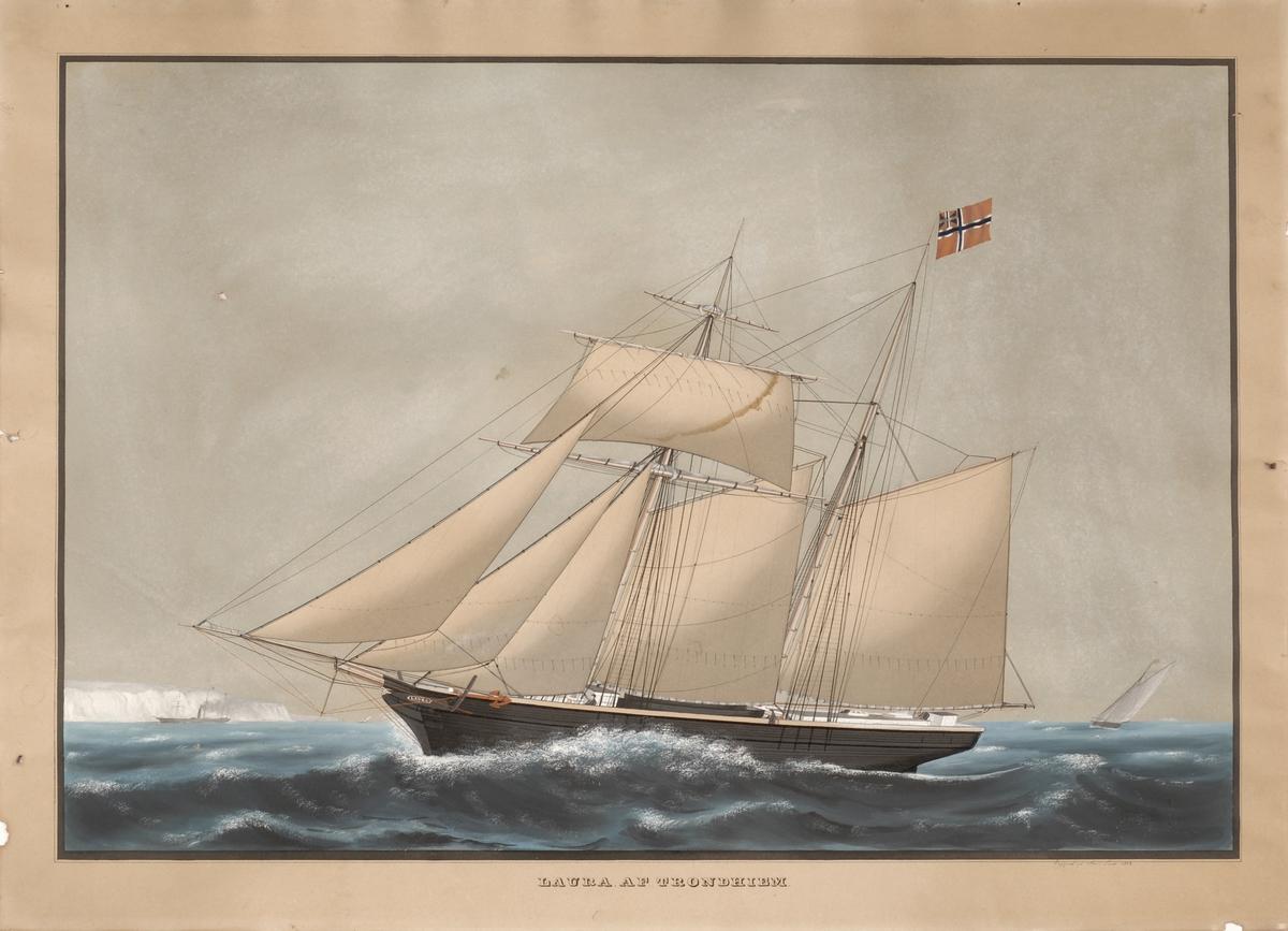 Fartøyet Laura med fulle seil.