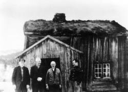 Simon Moe, Adolf Jøssund, Edvin Moe og Torstein Jøssund