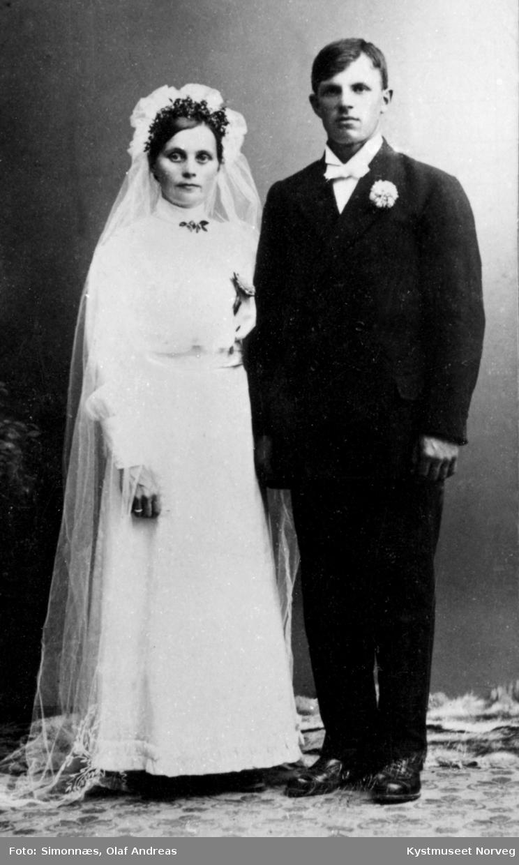 Brudebilde - Hanna og Torleif Gravset