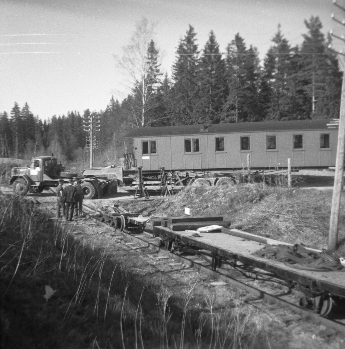 Transport av personvogn BCo 3 fra Sørumsand Verksted til museumsbanen