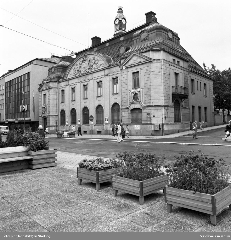 Exteriörbild av Sundsvalls museum på Storgatan 29.