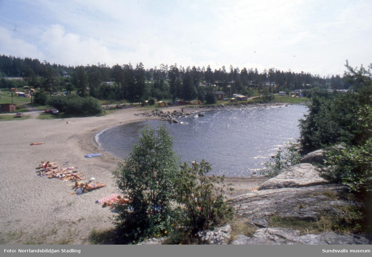 Badväder på Fläsian 1981.