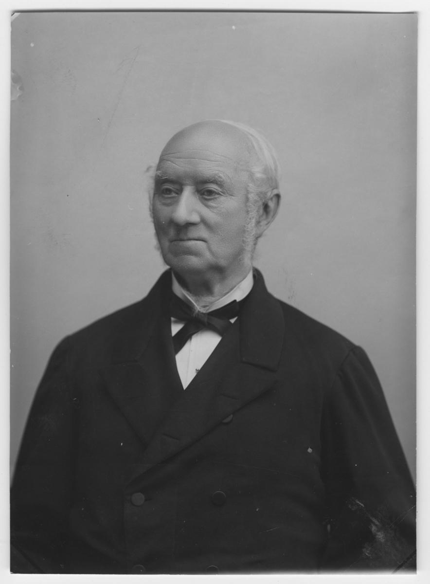 'Porträtt beställt inför Wilhelm Lilljeborgs 80-årsdag. Iklädd rosett. ::  :: Ingår i serie med fotonr. 6974:1-5.'