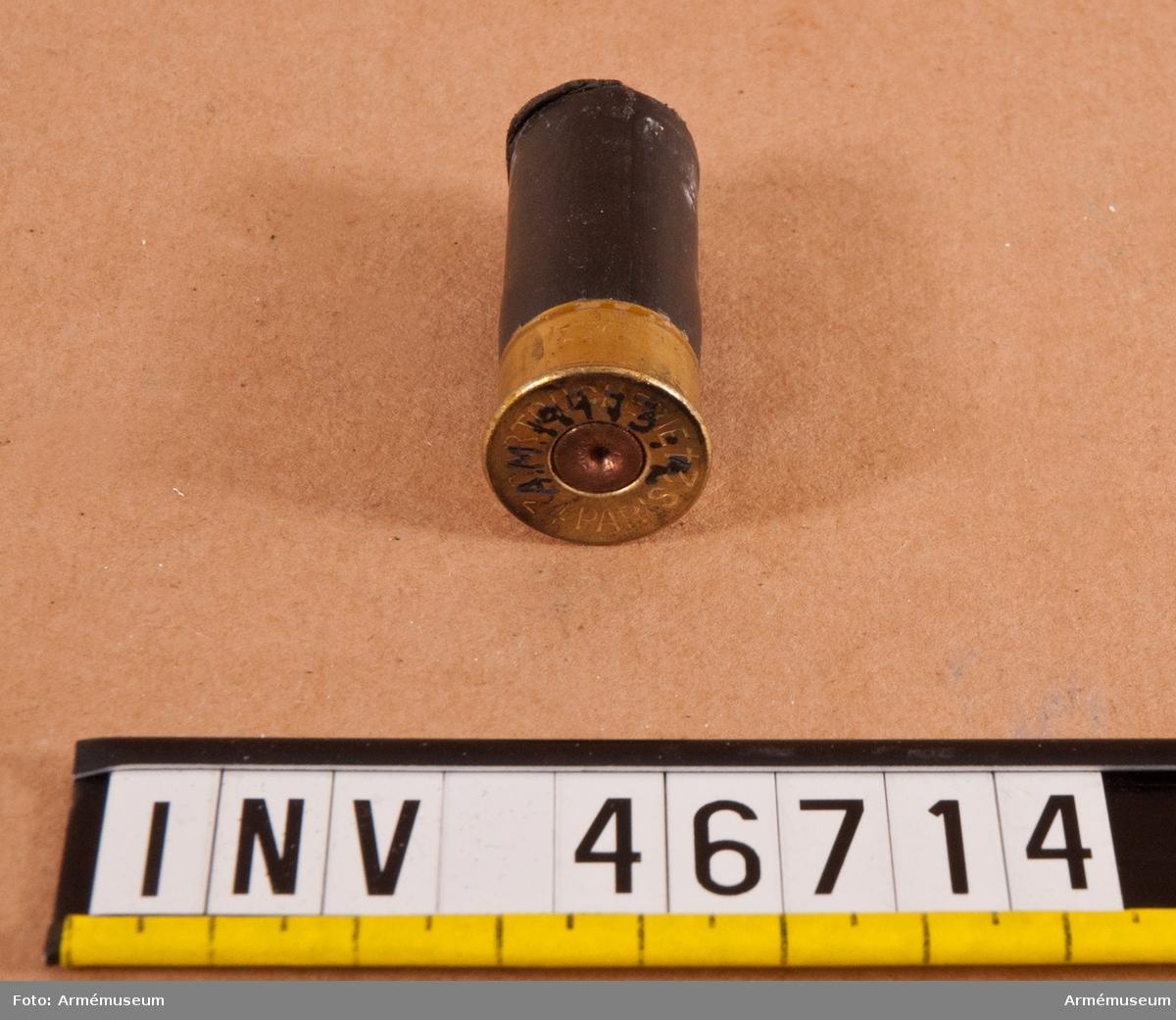 Grupp E V. Drivpatron, Frankrike. Till 6 cm vinggranat m/Brandt.