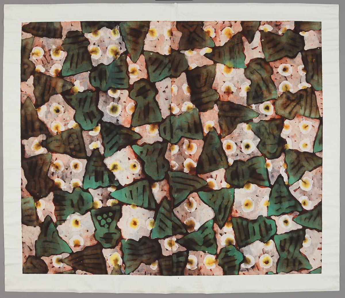 Grøne vasar [Dekorativ tekstil]