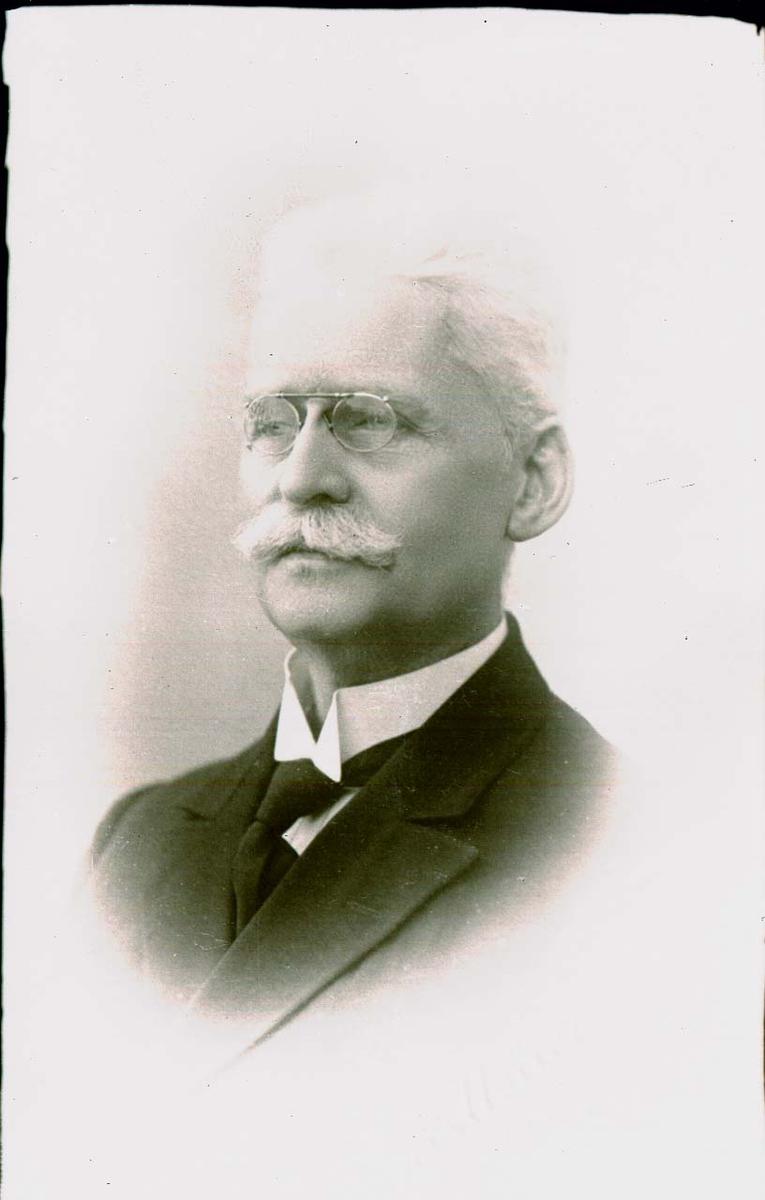 Portrett av herre med bart.
