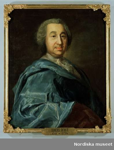 Oljemålning, porträtt av Anders Berch. Tavlan tillhör Uppsala Universitet.