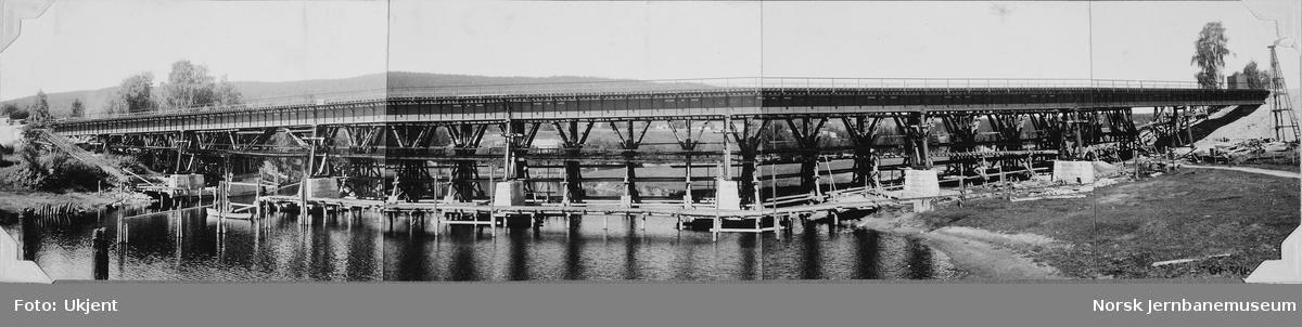 Bjerke bru : ferdig bru, prøvebelastning 26. august 1936