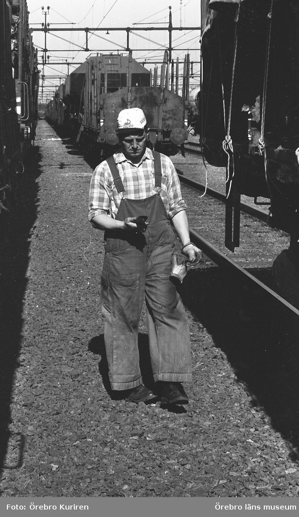 Rangerbangården i Hallsberg, 9 juni 1970.