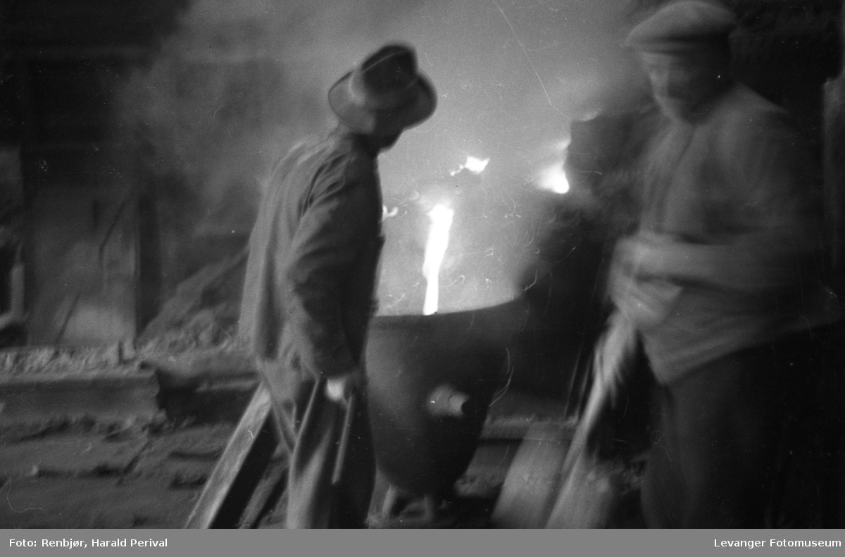 Smelteverksarbeidere på Røros.