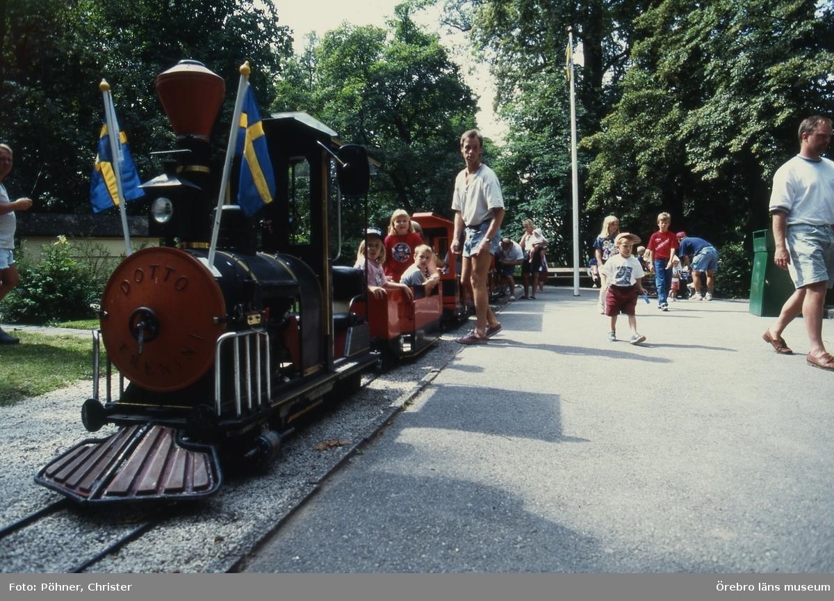 Lilleputt-tåget på Stora Holmen.