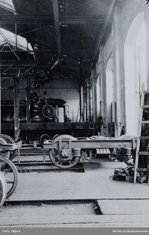 Verkstedet Sundland : transportluftbane i vognverkstedet