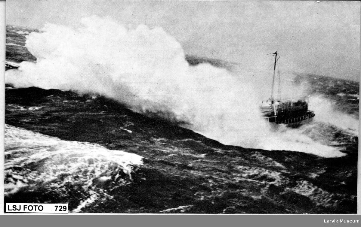 Skip i store bølger