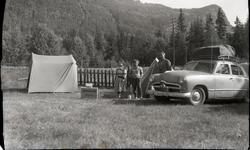 Sommarferien 1961. Leirplass ved Gol i Hallingdal, Bjørnesta