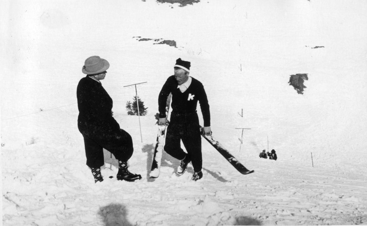 Kongsberg skier Sigmund Ruud in Spain 1930s