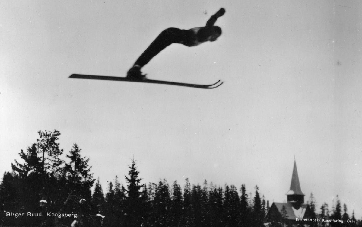 Kongsberg skier Birger Ruud at Holmenkollen 1934