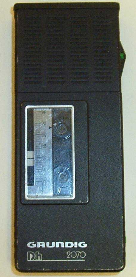Sort diktaforn med kassett