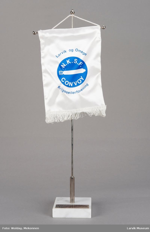 Larvik og Omegn Krigsseilerforening med logo: N.K.S.F. Convoy.