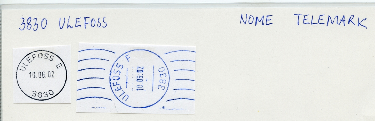 Stempelkatalog 3730 (3745, 3830) Ulefoss (Holden, Hollen), Nome, Telemark