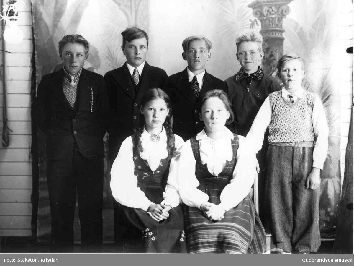 Elevar ved Gjeilo skule 1938