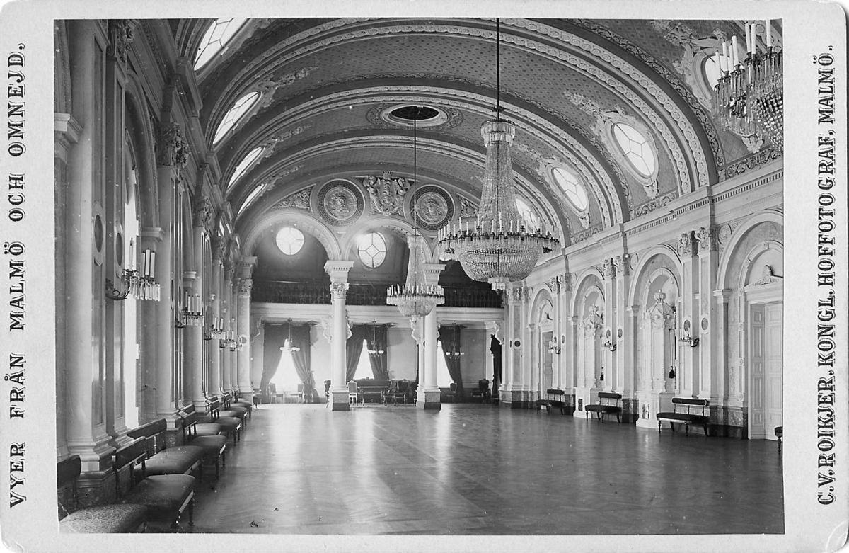 Knutssalen i Malmö Rådhus, trolgen under 1890-talet