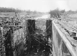 Ombyggnad av Trollhätte kanal, Trollhättan. Brinkebergskulle