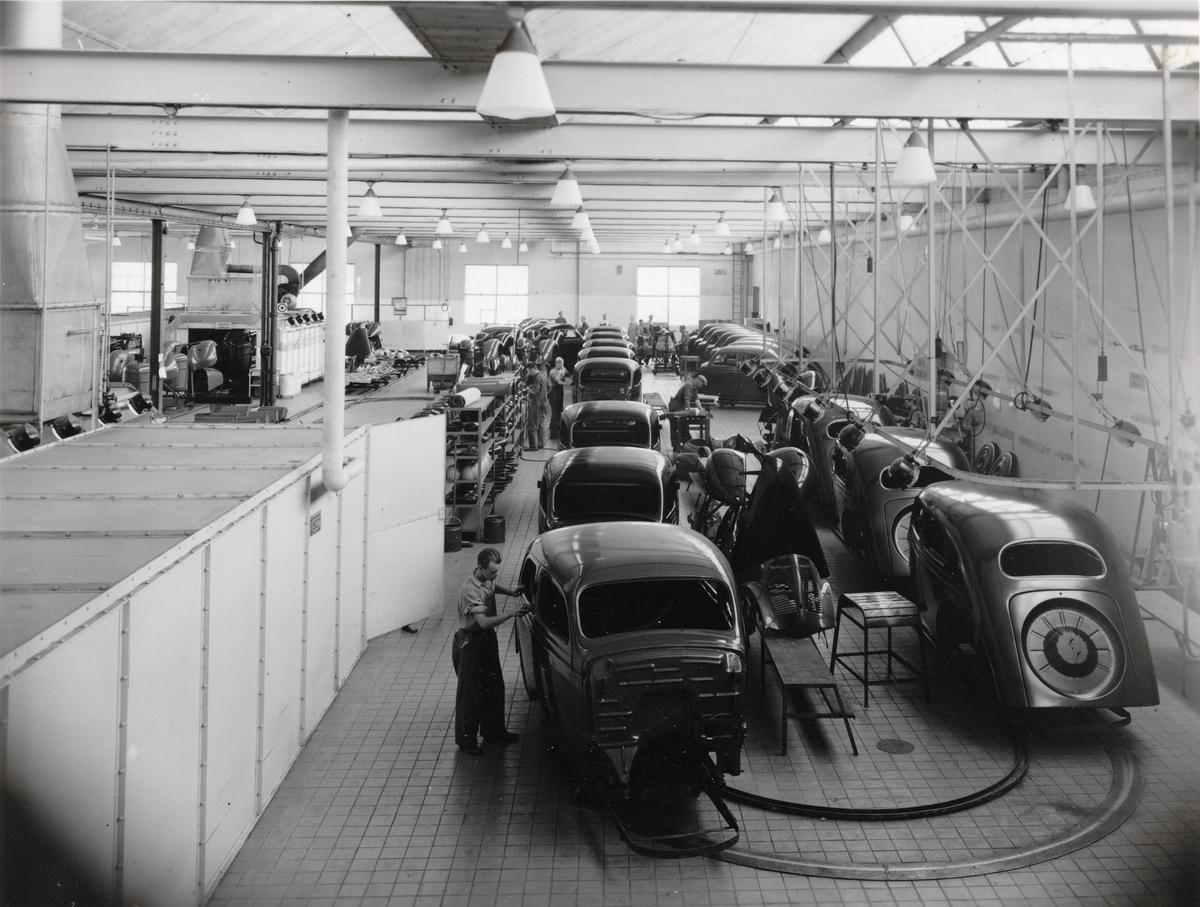 Måleriavdelningen vid Volvos fabrik i Göteborg.