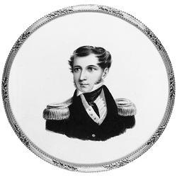 """Greve Adolf von Rosen. Miniatyrmålning gjord i """"Vicarage Hou"""
