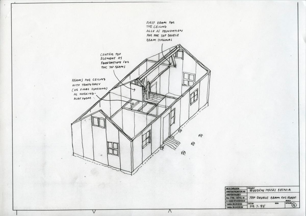 Typhus, bostadsgrupp SIDA Housing Takelement, ritning nr 4
