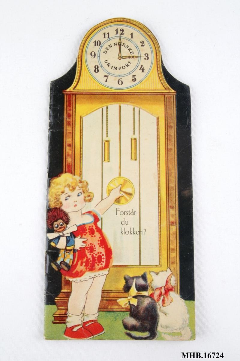 Bok for barn om å lære klokken