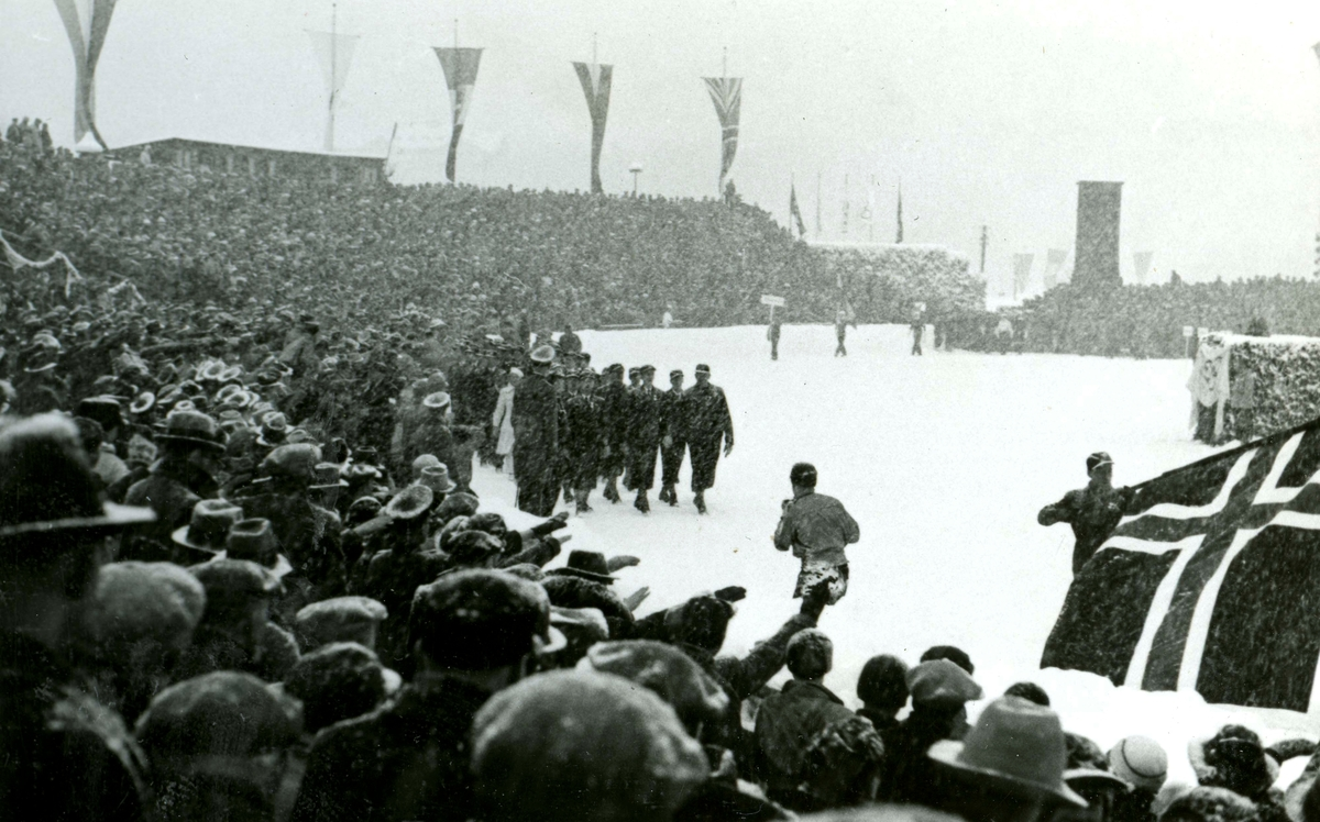 The Norwegian team at the opening ceremony OG 1936