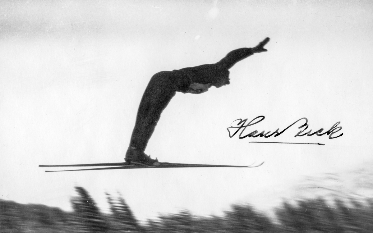 Kongsberg skier Hans Beck in action.