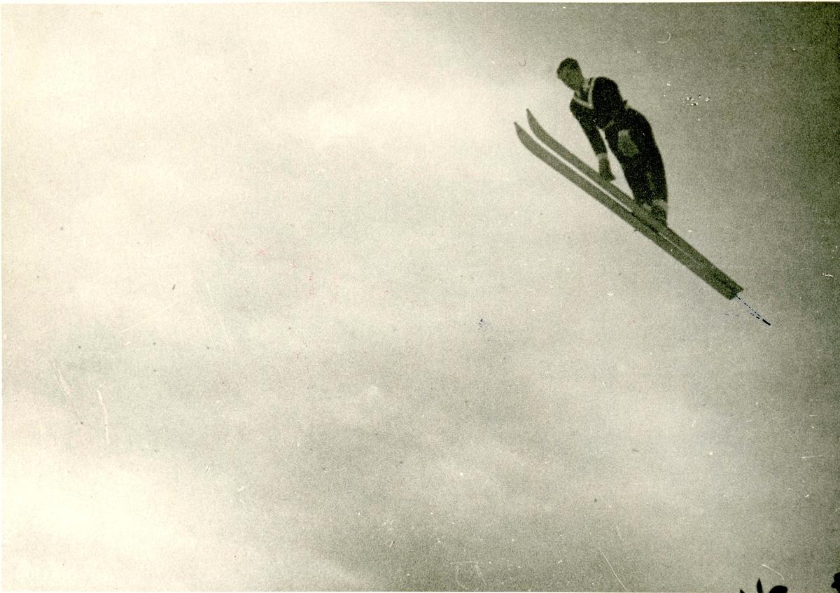 Sigmund Ruud ski jumping at Garmisch in 1936