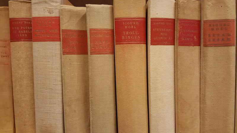 Sigurd Hoel-bøker i biblioteket
