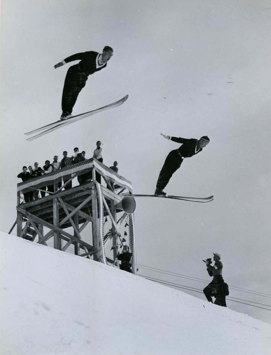 Kongsberg skiers Arne Ulland and Gustav Raaum in Sun Valley, USA