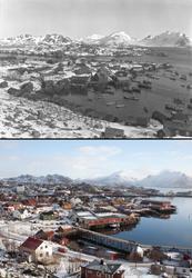Refotografering. Oversiktsbilde av Kræmmervika på Ballstad.