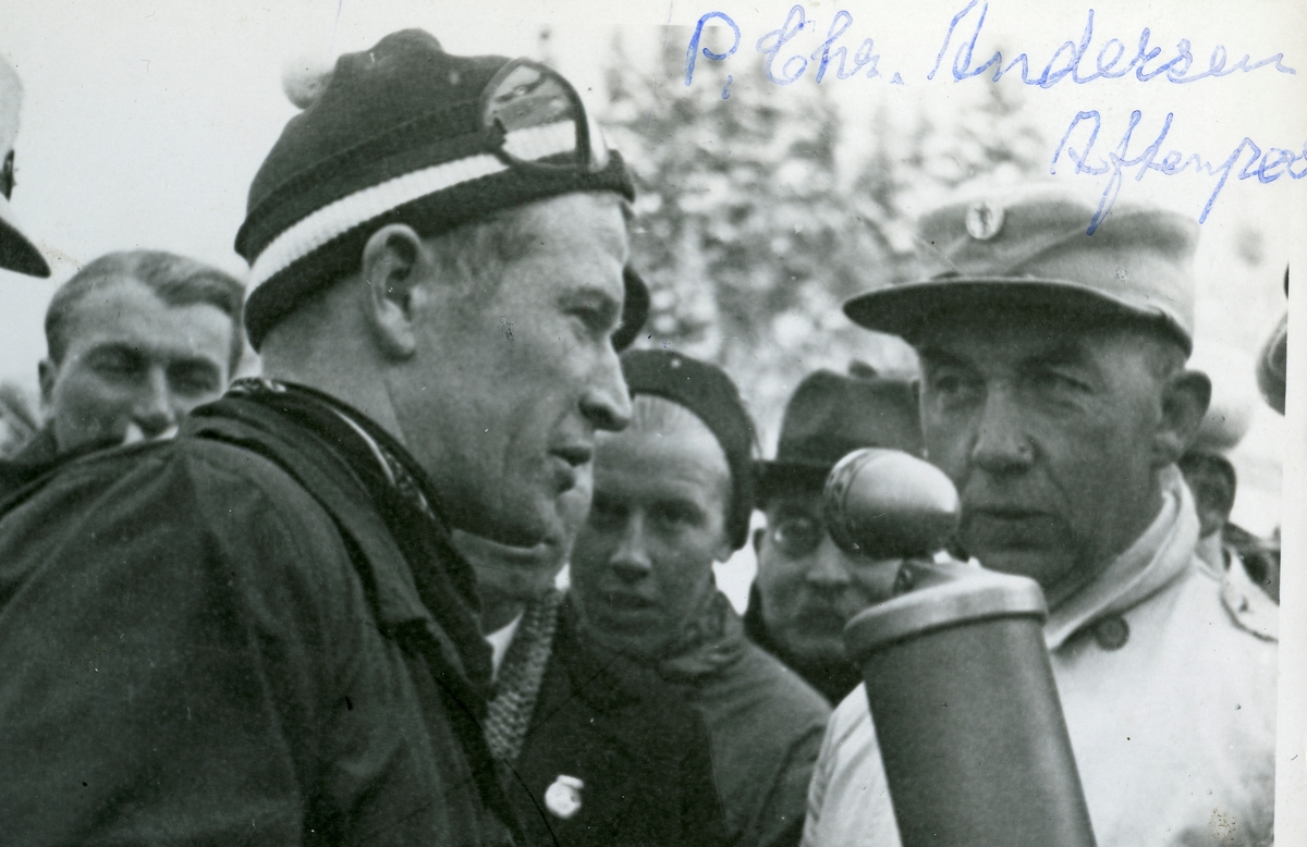Birger Ruud interviewed after down hill race