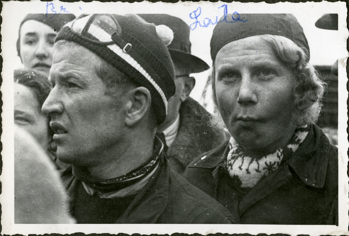 Norwegian alpine skiers Birger Ruud and Laila Schou Nilsen at Garmisch