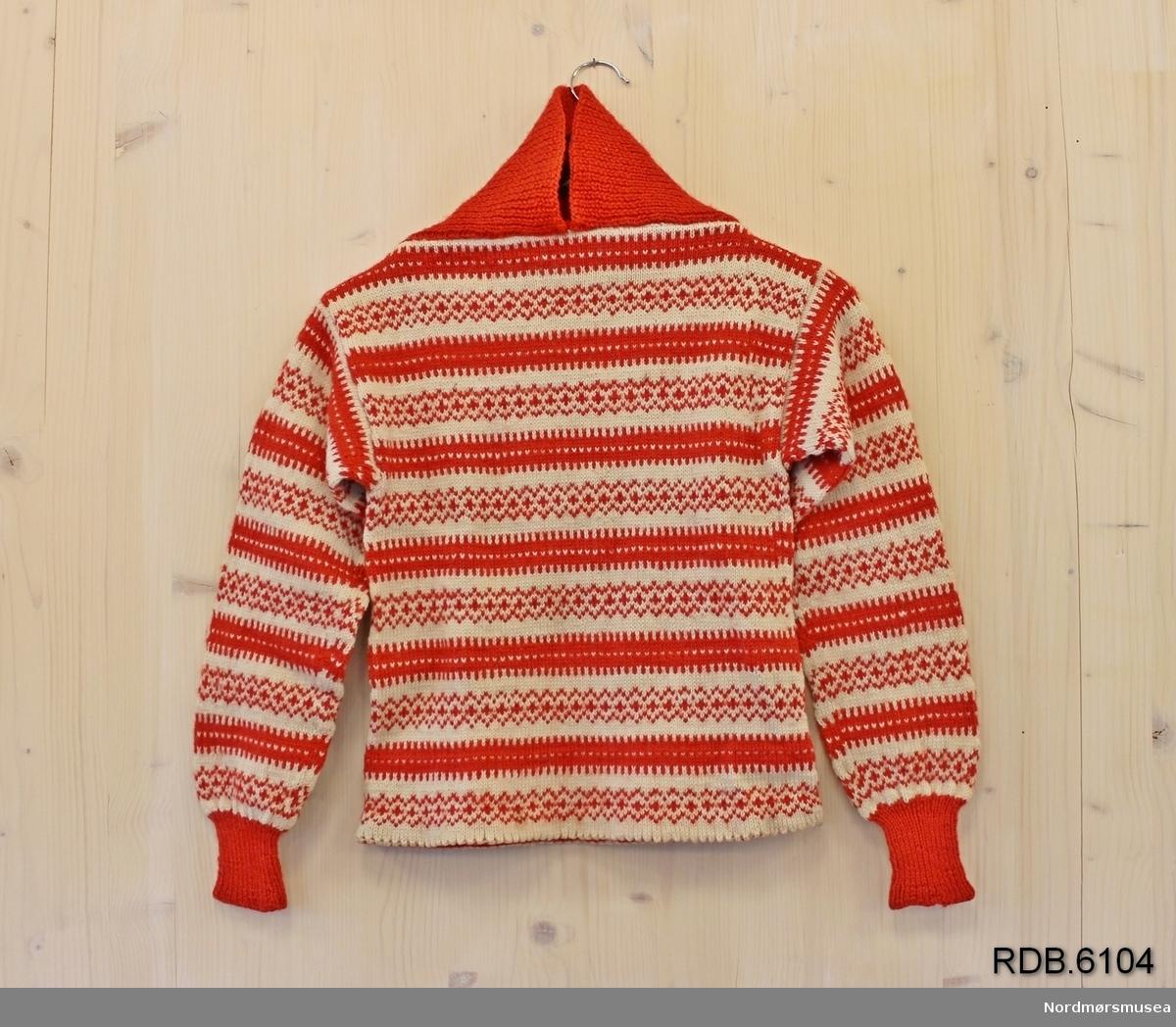 Part Two rød ullgenser, stikket genser til dame fra Part Two