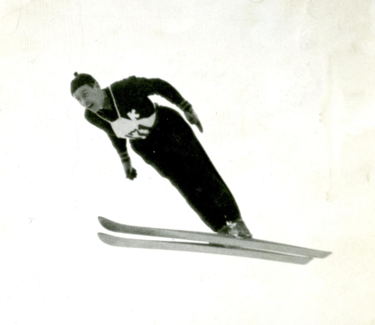 Kongsberg skier Vidar Lindboe Hansen in action
