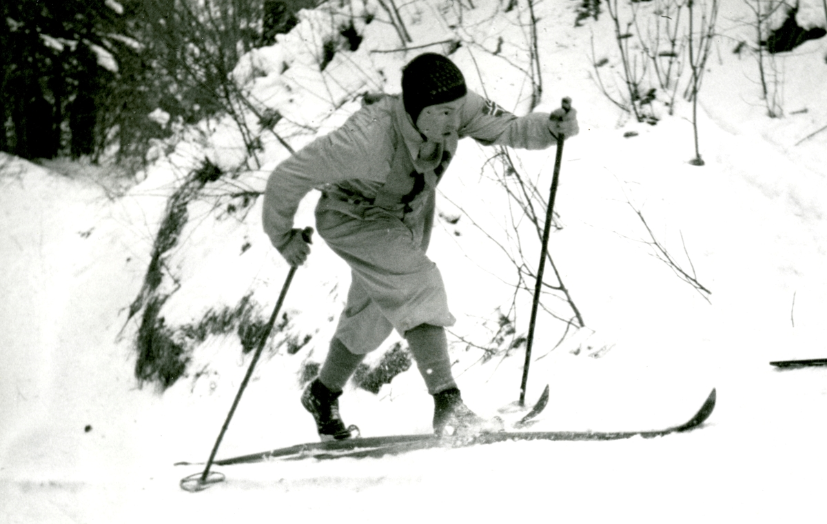 Norwegian cross country skier in OG at Gramisch