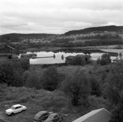 Gamla pråmar som tidigare gjort tjänst vid Skönviks sågverk.