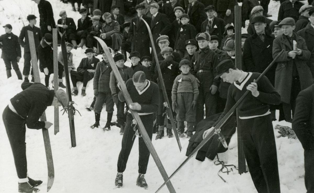 Norwegian ski jumpers during OG at Garmisch