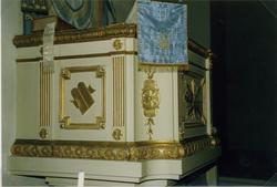Predikstolen i Målilla kyrka.