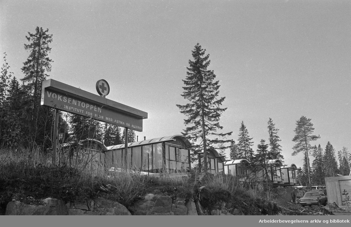 Voksentoppen. Norges Røde Kors institutt for barn med astma og allergi..1972.