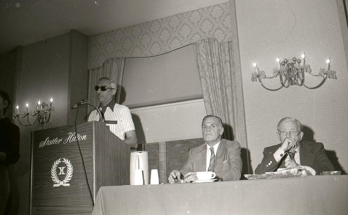 Bild tagen vid resa till USA i september 1977, då var det de dövblindas världskongress i New York, den första Helen Keller-konferensen.