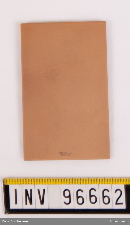 Plakett i brons för Göta trängregemente. Stans nr 14550, härdad 1942-11-17. Plakett, storlek 88x55 mm, med sköld, upptagande lejon på strömmar, krönt av kunglig krona, jämte inskription KUNGL. GÖTA TRÄNGKÅR samt därunder plats för gravering, enligt modell av skulptören Åke Hammarberg. Texten senare ändrad.